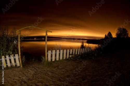 Plakat Noc piękny krajobraz