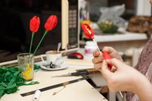 Handmade Process Craft From Paper Beautiful Flowers