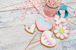 Beautiful glazed Easter cookies