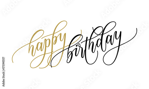Happy birthday greeting card calligraphy lettering on white happy birthday greeting card calligraphy lettering on white background for birthday party text for postcard wish m4hsunfo