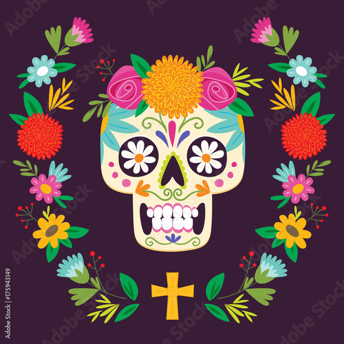 dia de los muertos day of the dead mexican skull buy this