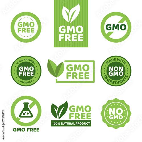GMO free emblems