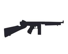 American Submachine Gun Silhou...