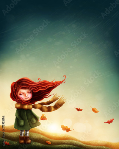 Fotografie, Tablou Little fairy girl