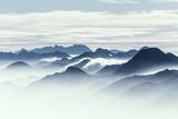Berggipfel am frühen Morgen - 175954501