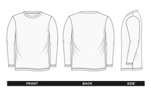 Sketch Shirt Long Sleeve White...
