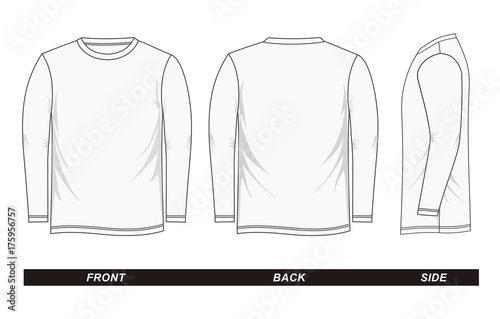 фотография  sketch Shirt long sleeve white vector