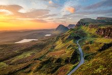 Vibrant Sunrise At Quiraing On...