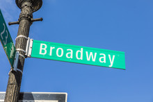 Street Sign Broadway At Vintag...