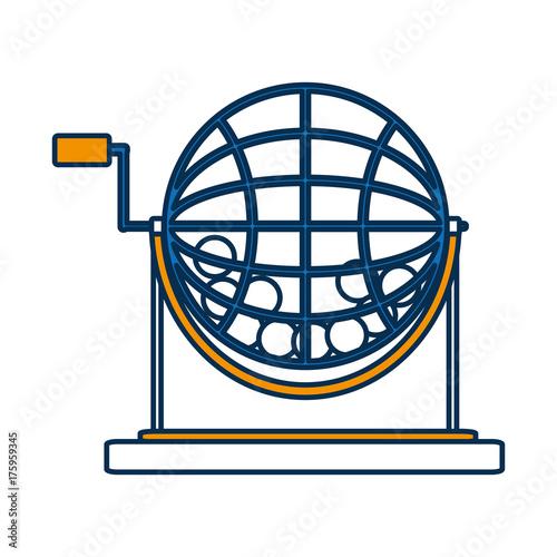 Fotografie, Obraz  lottery wheel icon over white background vector illustration