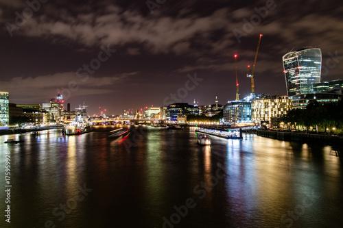 Obraz na dibondzie (fotoboard) Panoramę Thames w nocy