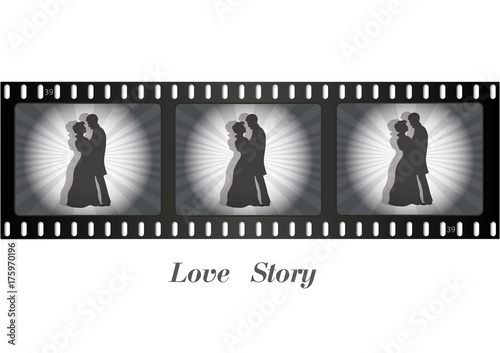 retro-film-zakochana-para-na-tasmie-filmowej