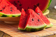 canvas print picture - slices of watermelon