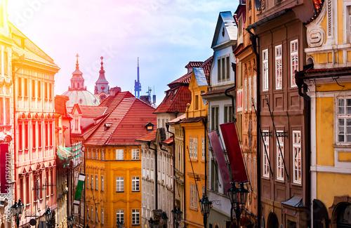 Obraz na dibondzie (fotoboard) Praga jest stolicą Republiki Czeskiej, państwa europejskiego. Zabytki historyczne.
