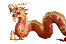 Chinese Dragon, Wood Carving.