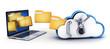 Leinwandbild Motiv Laptop and cloud security