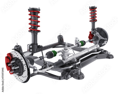 Fotografia Car suspension and brake and steering