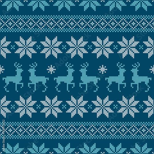 powtarzany-norweski-wzor-niebieski-bialy