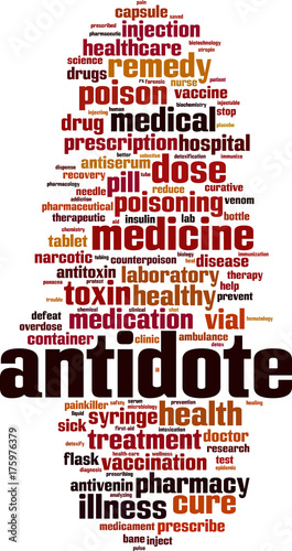 Antidote word cloud Canvas Print