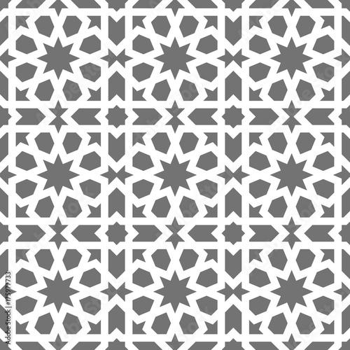 islamski-bezszwowy-wektoru-wzor-biale