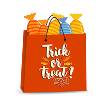 Vector Halloween Bag With Cand...