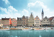 canvas print picture - old town of Ghent, Belgium