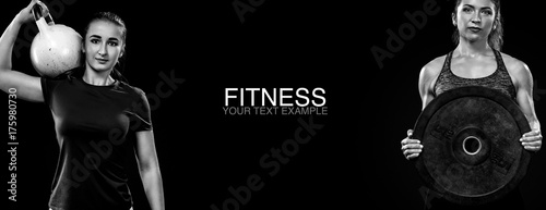 Sporty And Fit Women With Dumbbell Exercising At Black Background To Stay Fit Workout And Fitness Motivation Buy This Stock Photo And Explore Similar Images At Adobe Stock Adobe Stock Female fitness motivation skilled instagram women. fit women with dumbbell exercising