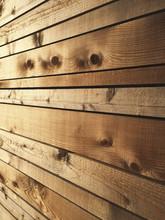 Detail Of Modern Cedar Fence
