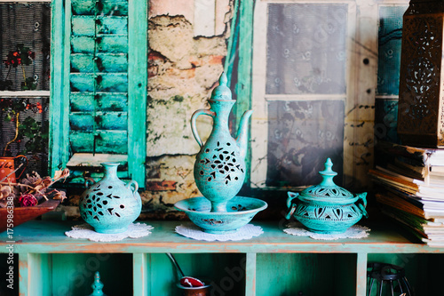 Antique details from a tea house