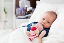 Cute Newborn Baby Boy, Lying I...