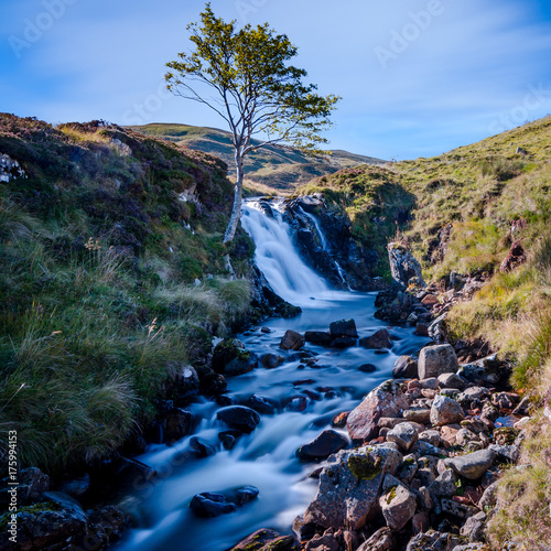 Poster  Waterfall in Glen Clunie Scotland