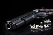 Airsoft Pistol With Bb Bullets...