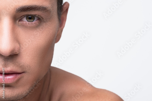 Canvas Print Attractive youthful man is expressing confidence