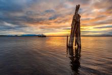 Sunset Over Lake Champlain As ...