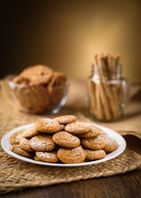 Honey Ginger Cookies In The Fo...