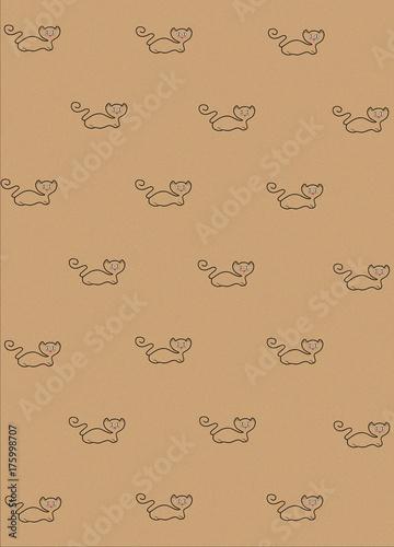 Türaufkleber Künstlich kitty