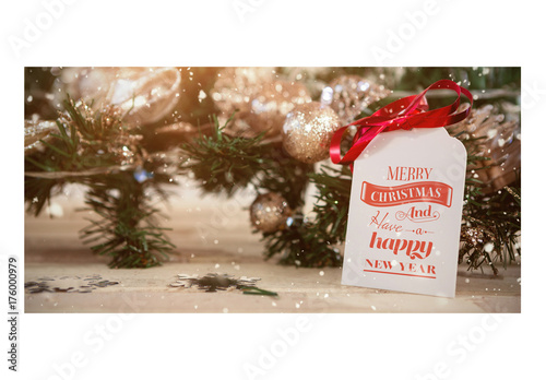 Christmas Gift Tag With Ornaments Mockup 1