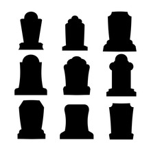 Tombstone Silhouette Set For H...