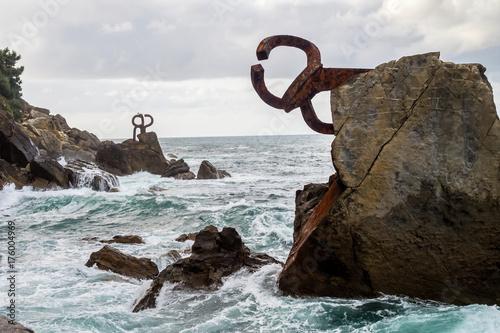 Fotografie, Obraz  Spanien - Baskenland - Donostia - San Sebastian - Peine del Viento (Windkamm)