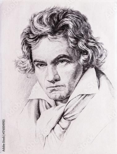 Cuadros en Lienzo  Portrait of Ludwig van Beethoven.