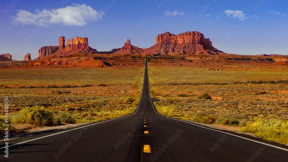Fototapety, obrazy: Monument Valley road