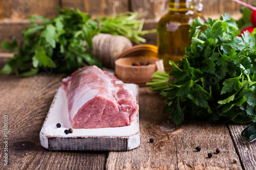 Organic pork meat