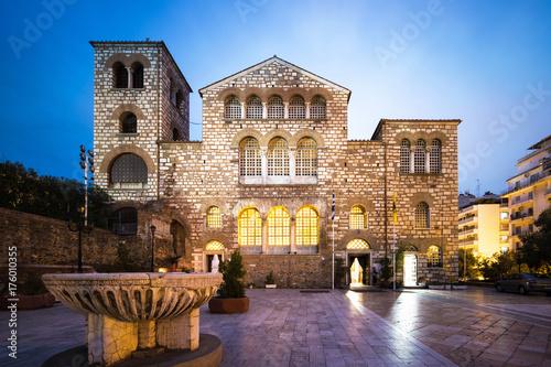 Cadres-photo bureau Con. ancienne Saint Demetrius Basilica in Thessaloniki at Dusk