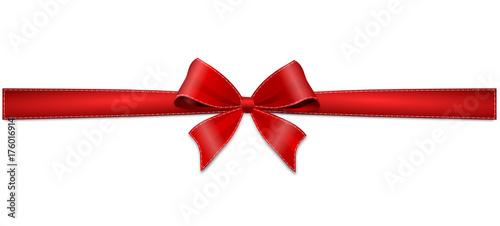 Obraz na plátně rote Schleife Geschenk