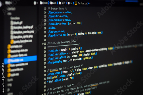 Html And Css Code Developing Screenshot Acheter Cette Photo Libre