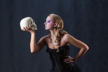 Beautiful Hamlet Holding Skull...