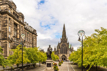 View Of Central Glasgow In Scotland