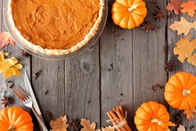 Autumn Table Scene Frame With ...