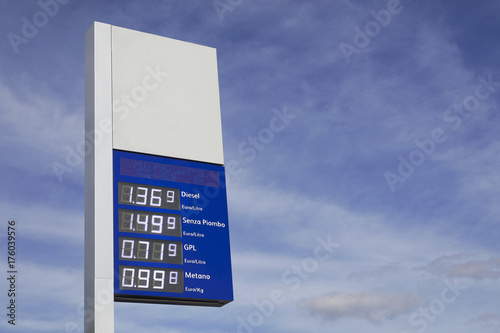Costo carburanti Canvas Print
