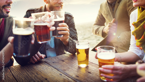 Friends having beers - 176040915